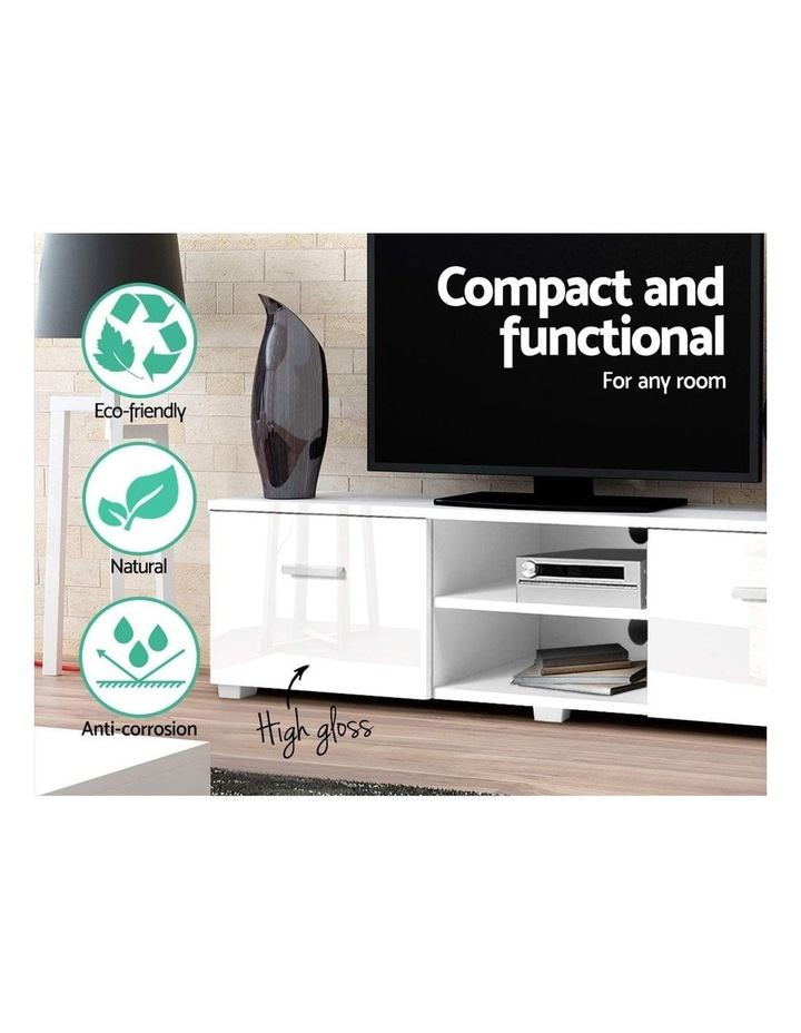 TV Cabinet Entertainment Unit Stand High Gloss Furniture Storage Drawers 140cm White image 4