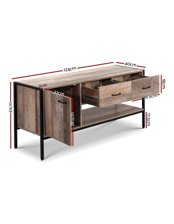 TV Stand Entertainment Unit Cabinet Storage Metal Wooden Industrial Rustic 120cm image 2
