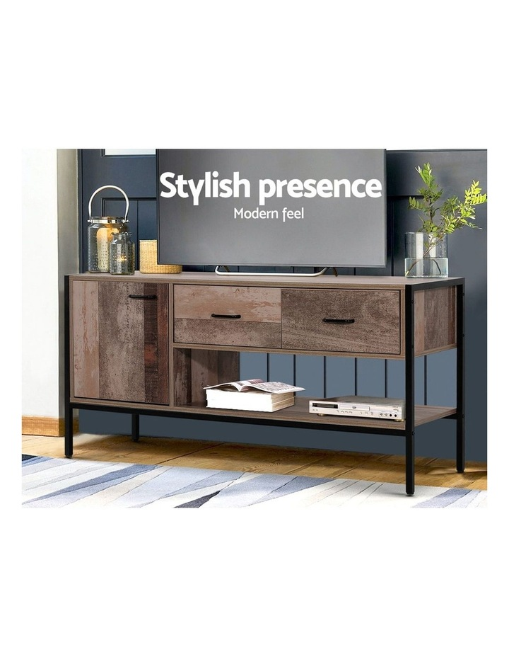 TV Stand Entertainment Unit Cabinet Storage Metal Wooden Industrial Rustic 120cm image 3