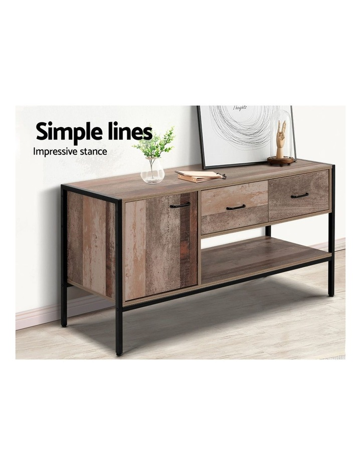 TV Stand Entertainment Unit Cabinet Storage Metal Wooden Industrial Rustic 120cm image 6