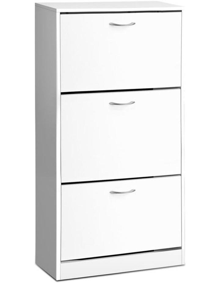3 Tier Shoe Cabinet - White image 1