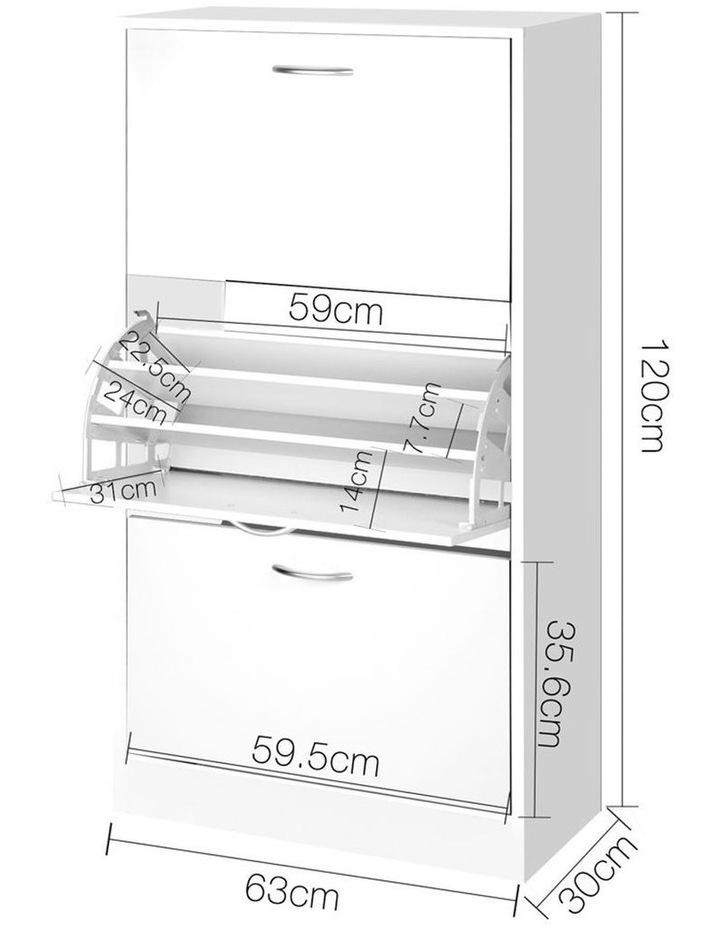 3 Tier Shoe Cabinet - White image 2