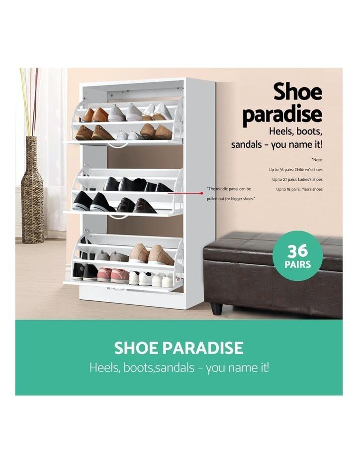 3 Tier Shoe Cabinet - White image 4
