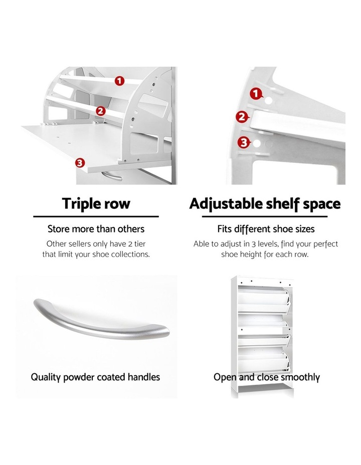 3 Tier Shoe Cabinet - White image 6