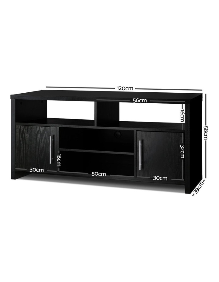 Entertainment Unit with Cabinets - Black image 2