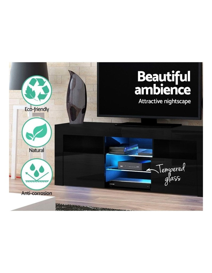145cm RGB LED TV Cabinet Entertainment Unit Stand Gloss Furniture Black image 5