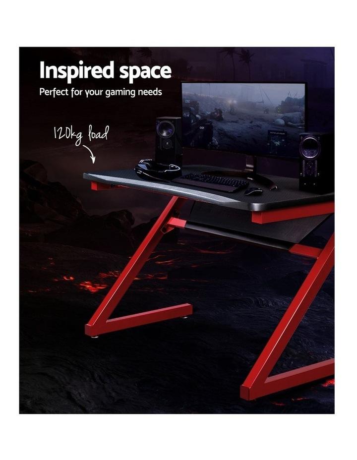 Gaming Desk Home Office Carbon Fiber Computer Table Racer Desks Black Red image 3