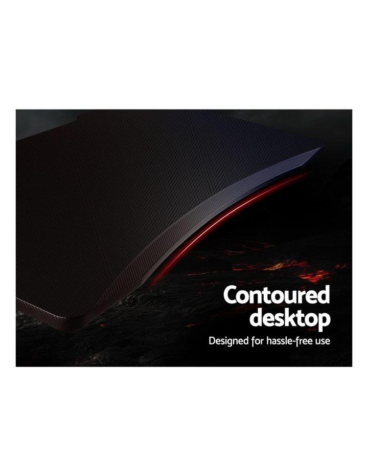 Gaming Desk Home Office Carbon Fiber Computer Table Racer Desks Black Red image 4