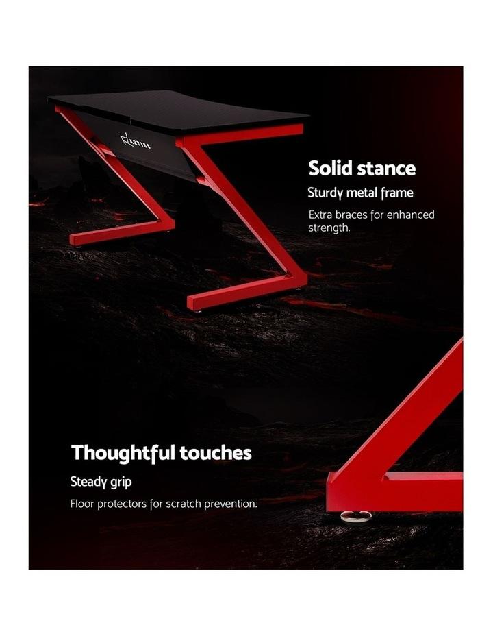 Gaming Desk Home Office Carbon Fiber Computer Table Racer Desks Black Red image 6