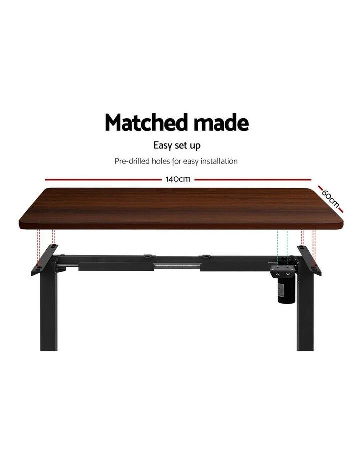 Motorised Electric Height Adjustable Standing Desk Computer Black Walnut image 6