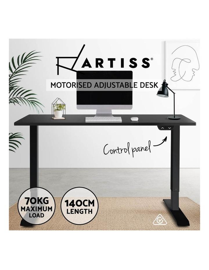 Motorised Electric Height Adjustable Standing Desk Computer Black image 3