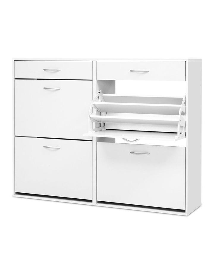 Shoe Cabinet Shoes Storage Rack Organiser White Shelf Drawer 36 Pairs image 1