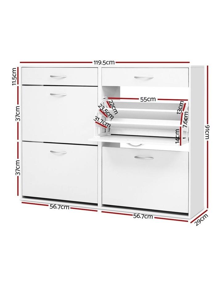 Shoe Cabinet Shoes Storage Rack Organiser White Shelf Drawer 36 Pairs image 2