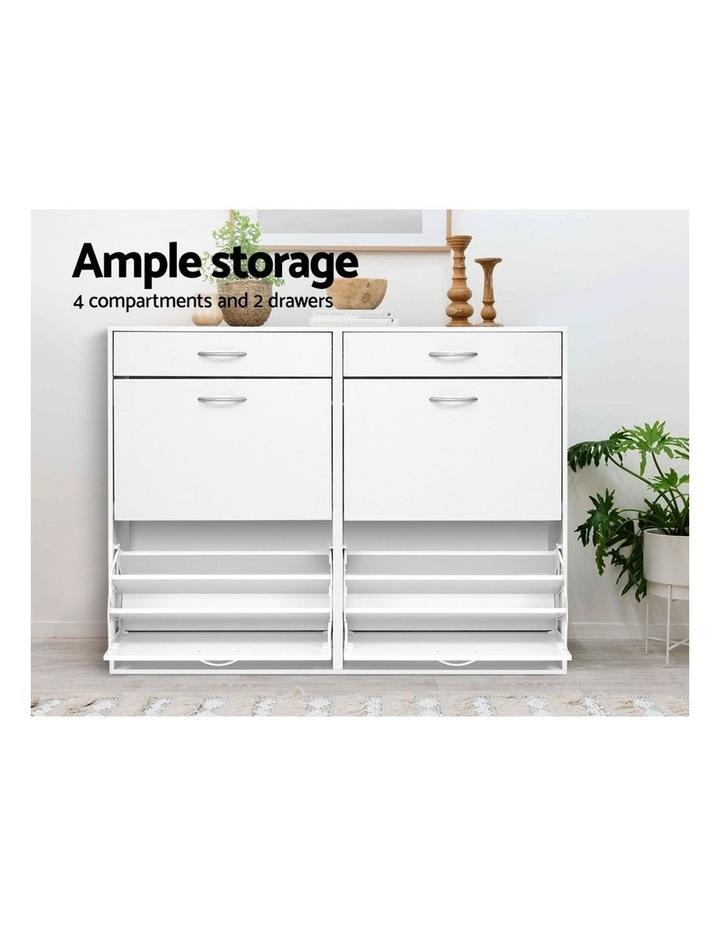 Shoe Cabinet Shoes Storage Rack Organiser White Shelf Drawer 36 Pairs image 5