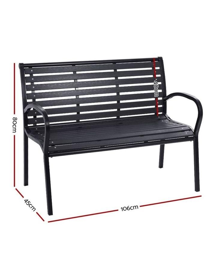 Garden Bench Outdoor Furniture Chair Steel Lounge Backyard Patio Park image 2