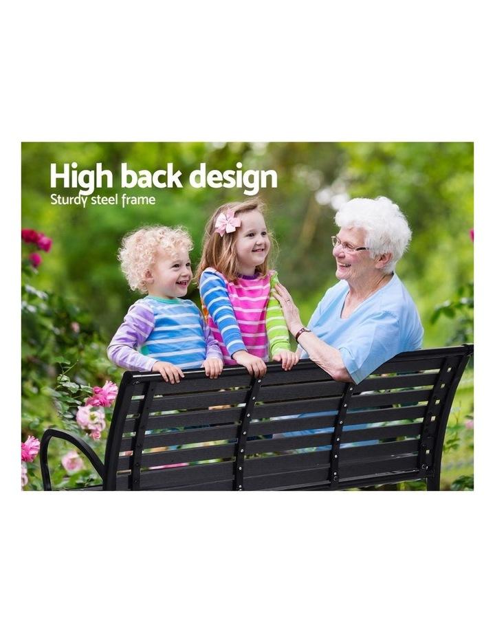 Garden Bench Outdoor Furniture Chair Steel Lounge Backyard Patio Park image 4