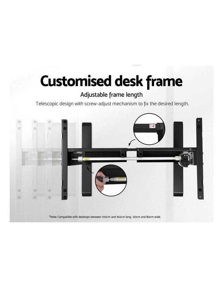 Motorised Electric Height Adjustable Standing Desk Computer Black White Oak image 5