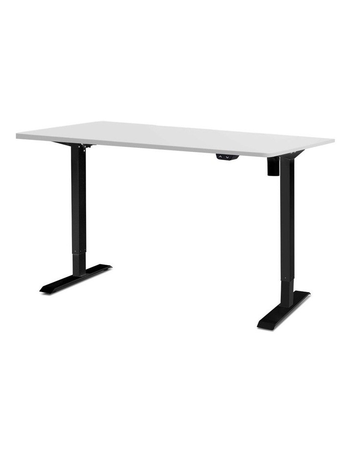 Motorised Electric Height Adjustable Standing Desk Computer Black White image 1