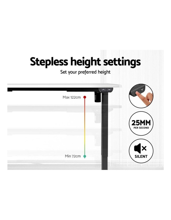 Motorised Electric Height Adjustable Standing Desk Computer Black White image 4
