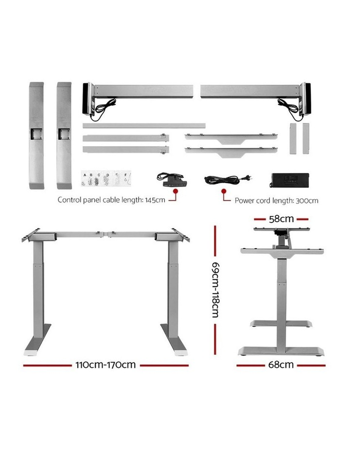 Height Adjustable Standing Desk Electric Motorised Sit Stand Table Office image 2