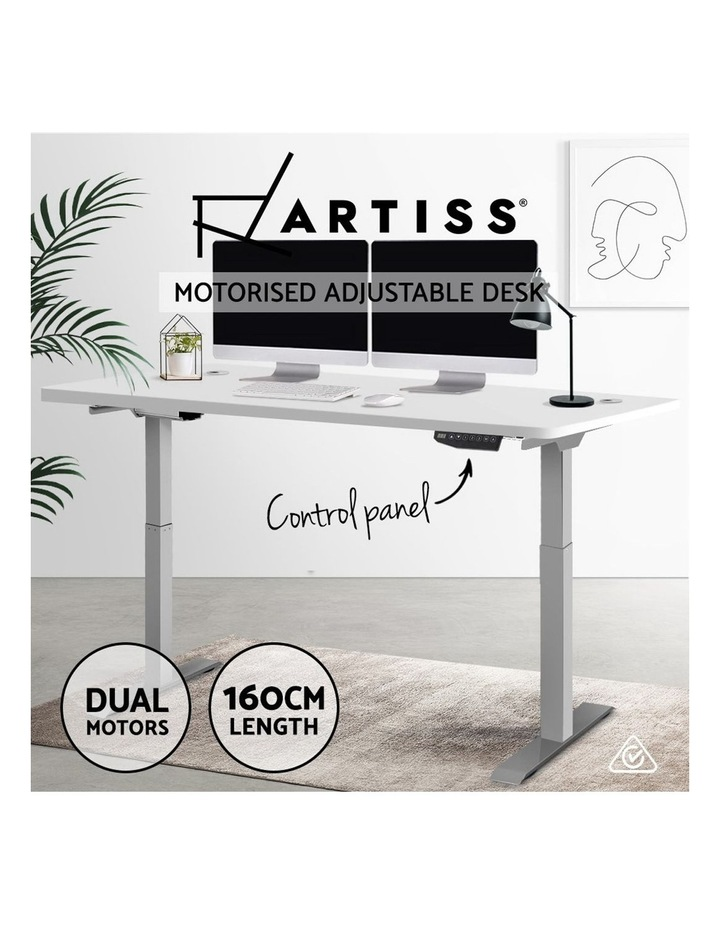 Height Adjustable Standing Desk Electric Motorised Sit Stand Table Office image 4