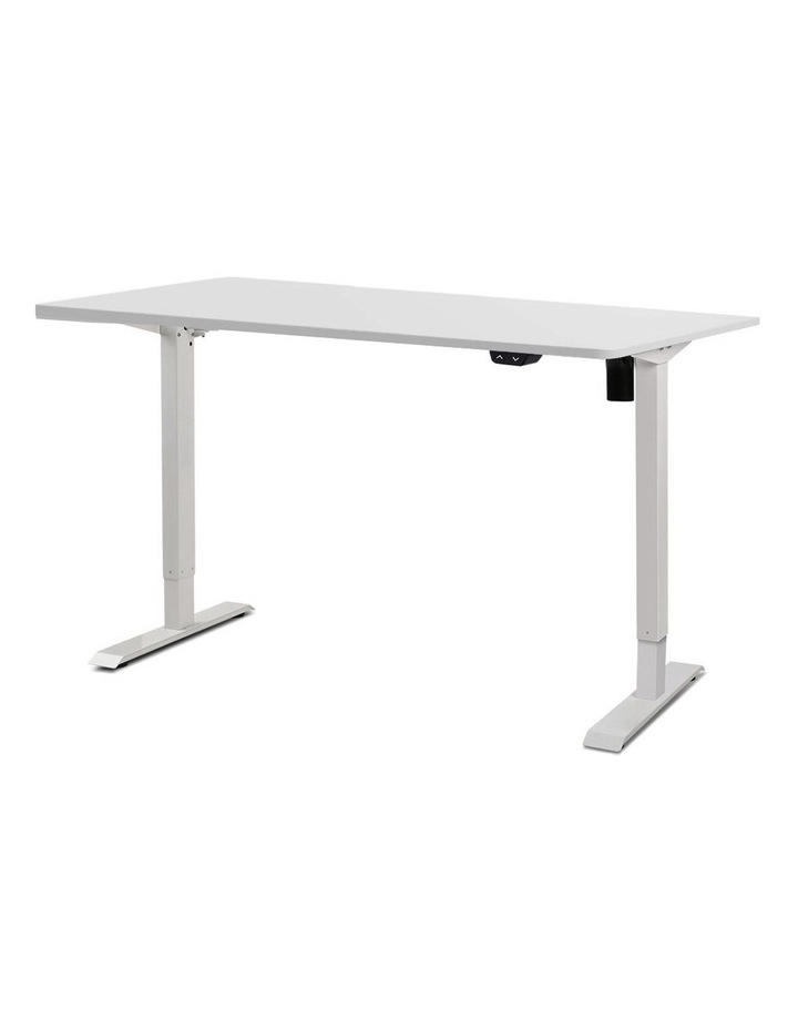 Motorised Electric Height Adjustable Standing Desk Computer White image 1