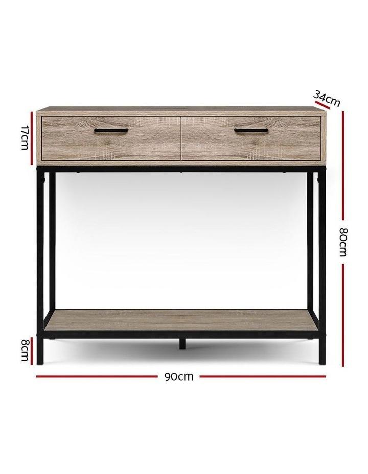 Hallway Console Table Hall Side Entry Display Desk Drawer Storage Oak image 2