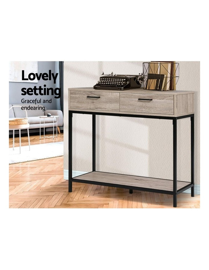 Artiss Hallway Console Table Hall Side Entry Display Desk Drawer Storage Oak Myer - Small Console Table With Drawers