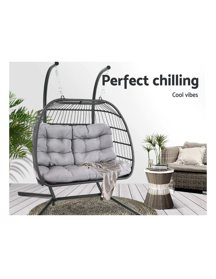 Outdoor Furniture Hanging Swing Chair Egg Hammock Pod Wicker 2 Person image 3