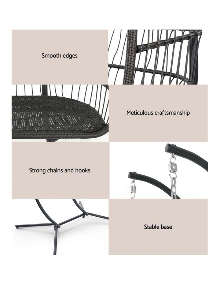 Outdoor Furniture Hanging Swing Chair Egg Hammock Pod Wicker 2 Person image 6