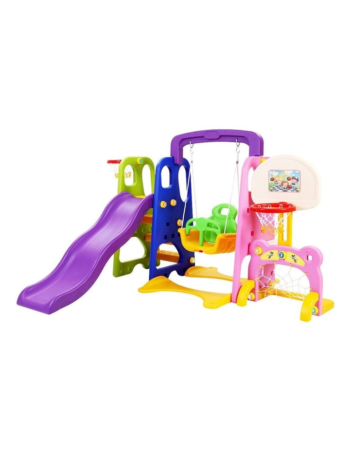 Slide Swing with Basketball Hoop Outdoor Indoor Playground Play slides image 1
