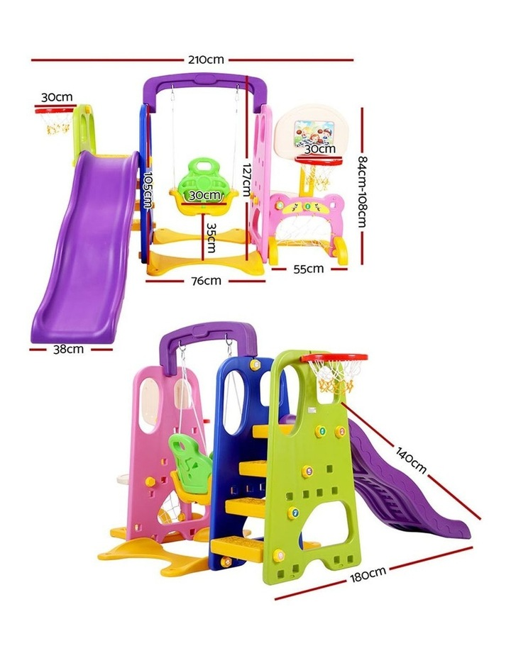 Slide Swing with Basketball Hoop Outdoor Indoor Playground Play slides image 2