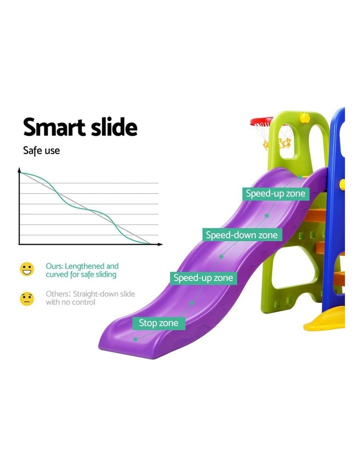 Slide Swing with Basketball Hoop Outdoor Indoor Playground Play slides image 4