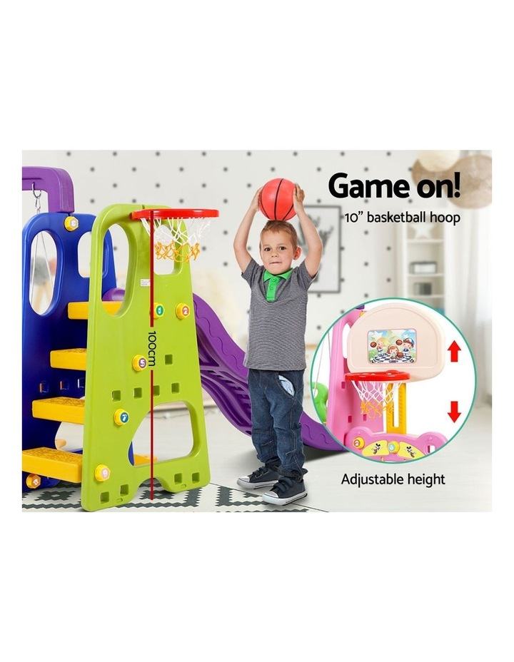 Slide Swing with Basketball Hoop Outdoor Indoor Playground Play slides image 5