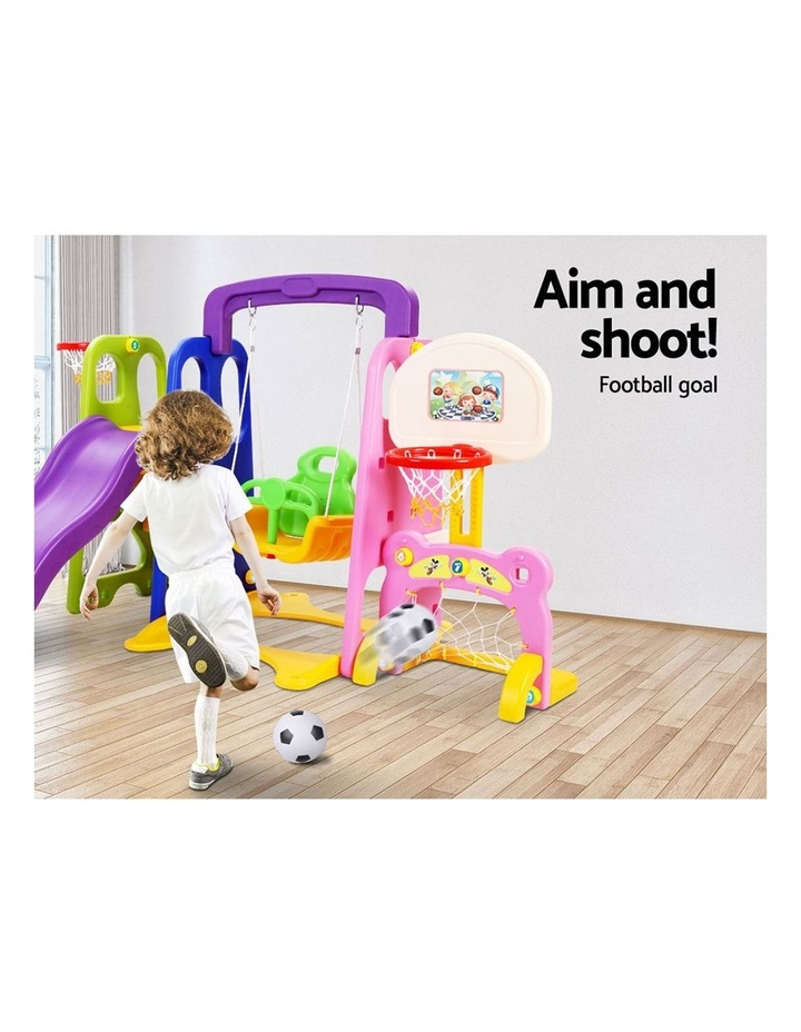 Slide Swing with Basketball Hoop Outdoor Indoor Playground Play slides image 6