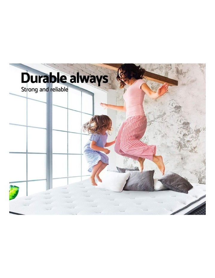 Double Size Mattress Euro Top Bed Bonnell Spring Foam 21Cm image 3