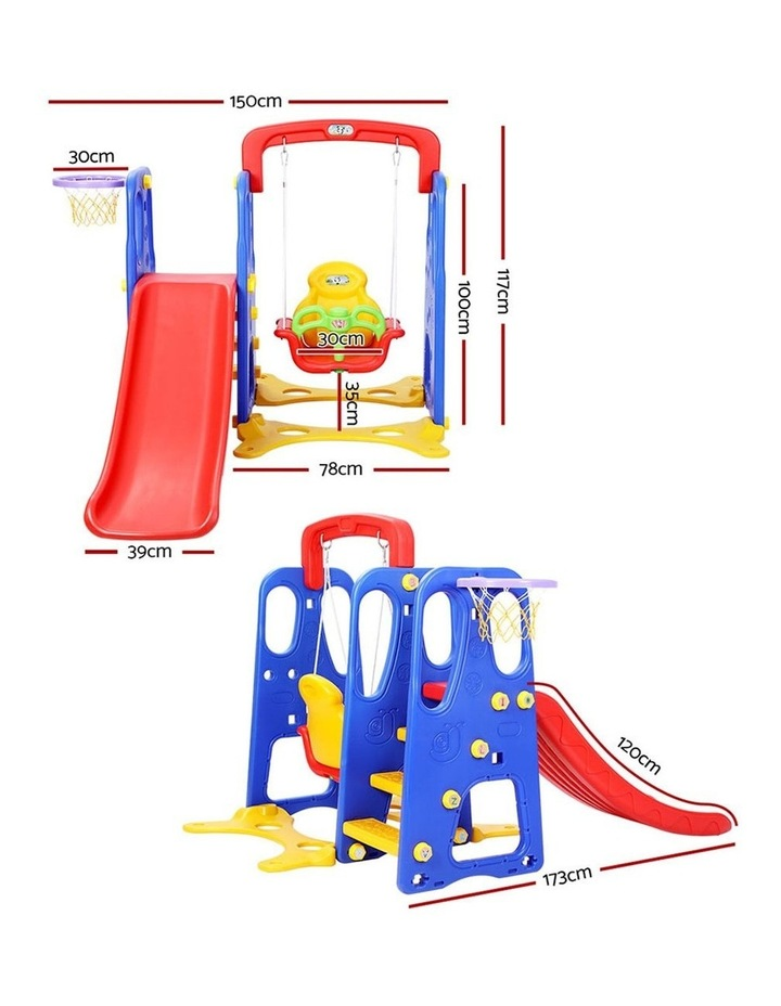 Slide Swing Basketball Hoop Outdoor Indoor Playground Play slides image 2