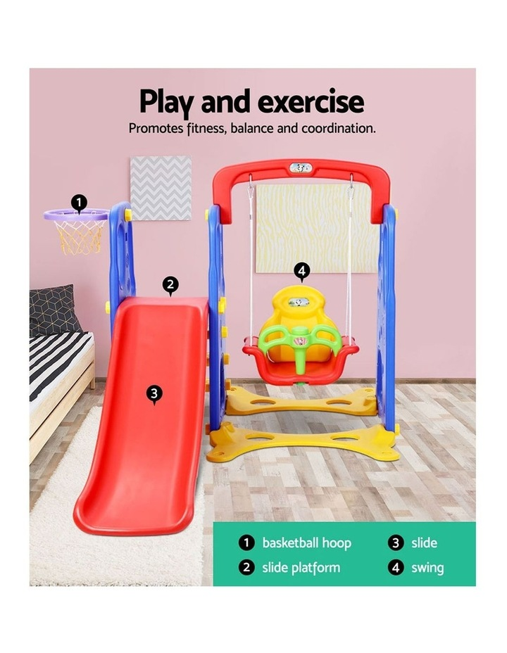 Slide Swing Basketball Hoop Outdoor Indoor Playground Play slides image 3
