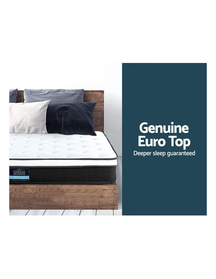 King Size Mattress Euro Top Bed Bonnell Spring Foam 21Cm image 4