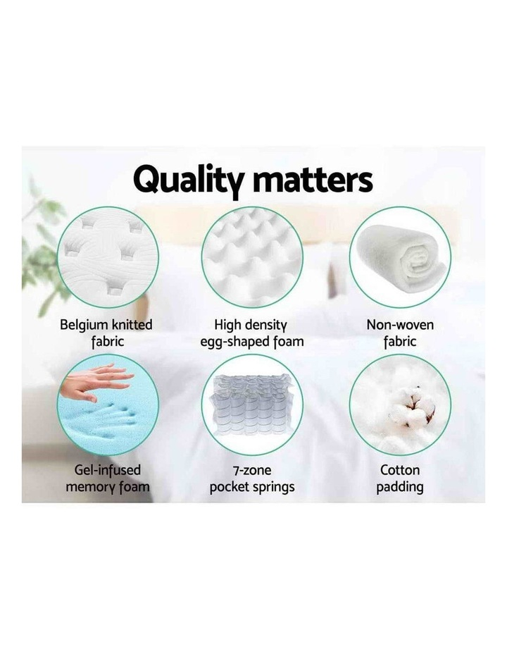 Queen Mattress Bed Pocket Spring Cool Gel Memory Foam 7 Zone image 6