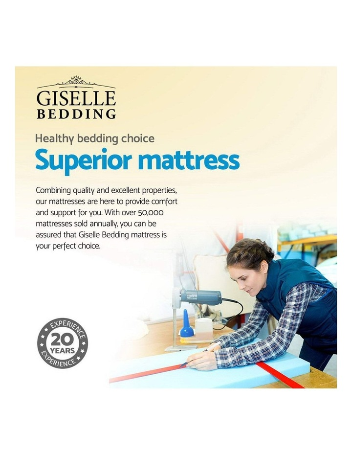 Queen Size Mattress Bed Pocket Spring Foam Bamboo 34Cm image 4