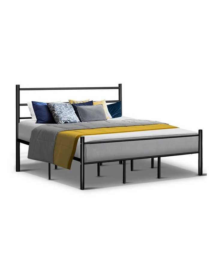 Metal King Bed Frame - Black image 1