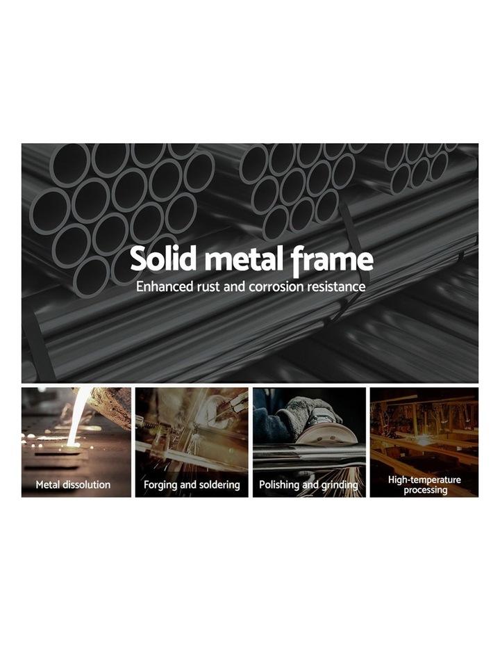 Metal King Bed Frame - Black image 4