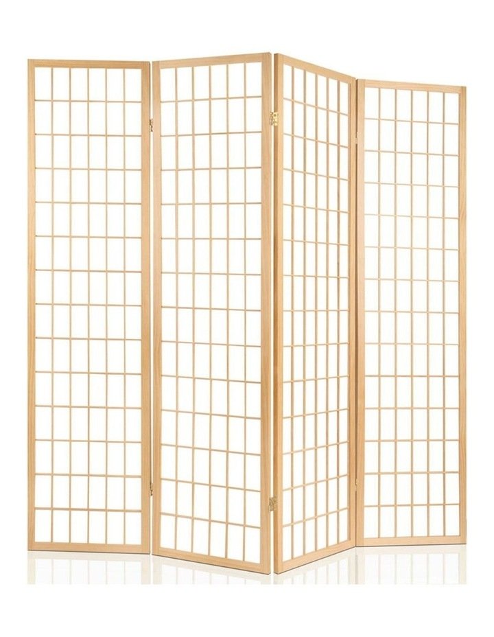 6 Panel Room Divider Screen Wooden Timber Natural Fold Stand Privacy image 3