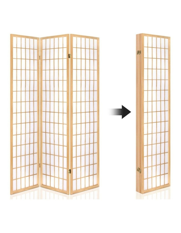 6 Panel Room Divider Screen Wooden Timber Natural Fold Stand Privacy image 4