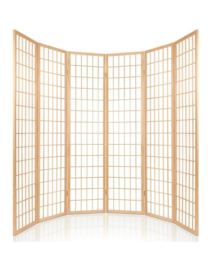 6 Panel Room Divider Screen Wooden Timber Natural Fold Stand Privacy image 5