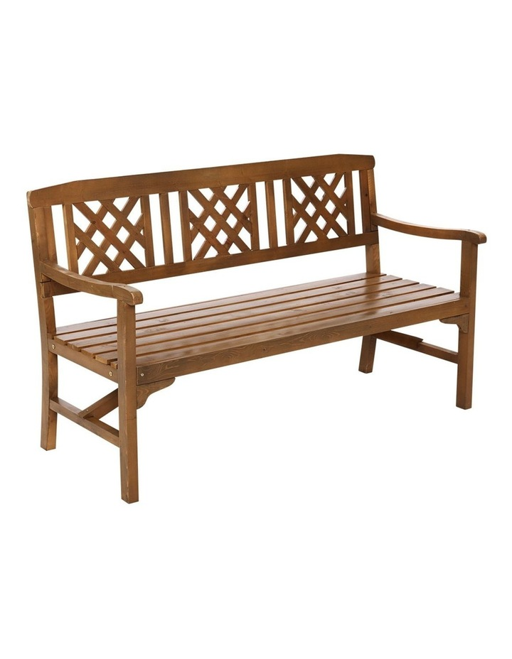 Wooden Garden Bench 3 Seat Patio Furniture Timber Outdoor Lounge Chair image 1