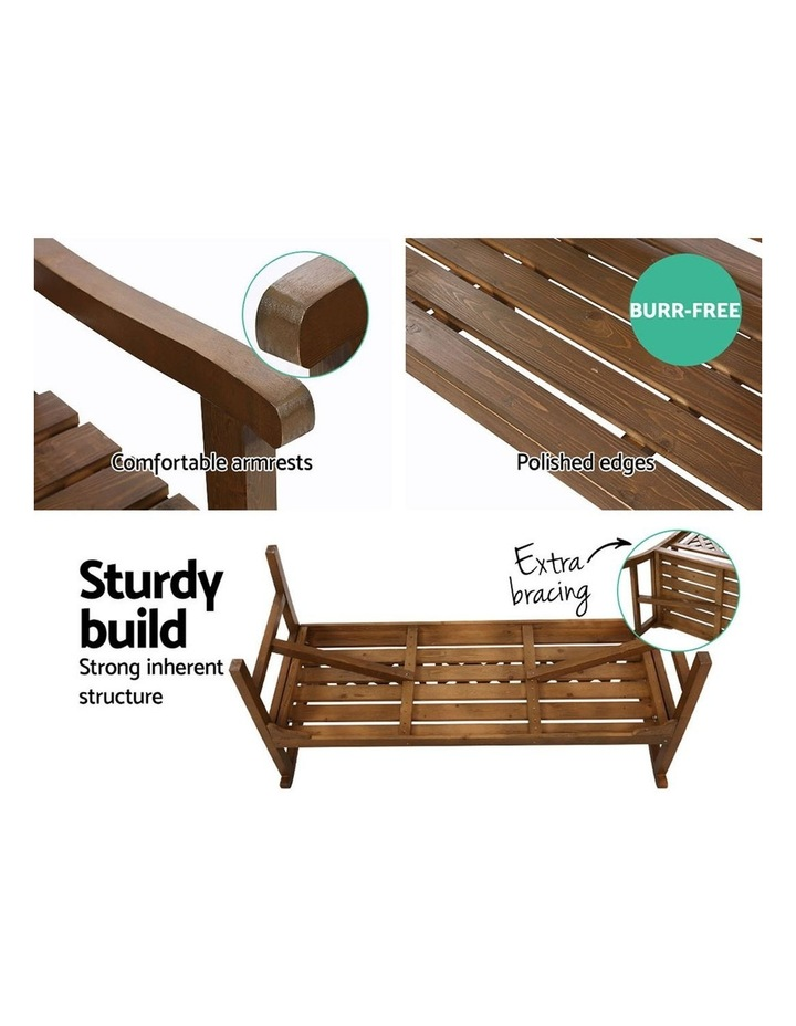 Wooden Garden Bench 3 Seat Patio Furniture Timber Outdoor Lounge Chair image 5