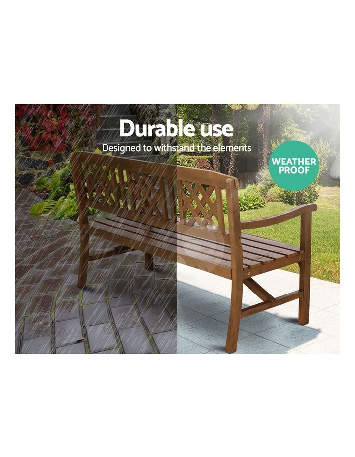Wooden Garden Bench 3 Seat Patio Furniture Timber Outdoor Lounge Chair image 6