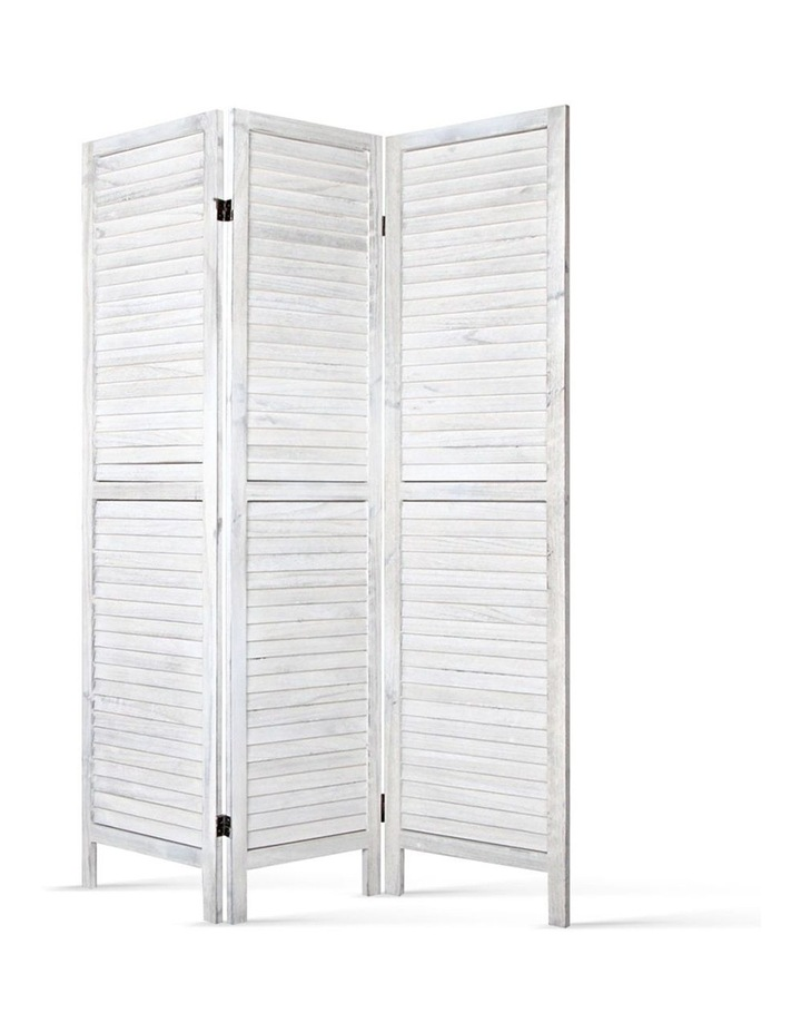 3 Panel Room Divider Screen Privacy Wood Foldable Timber Stand White 170 image 1